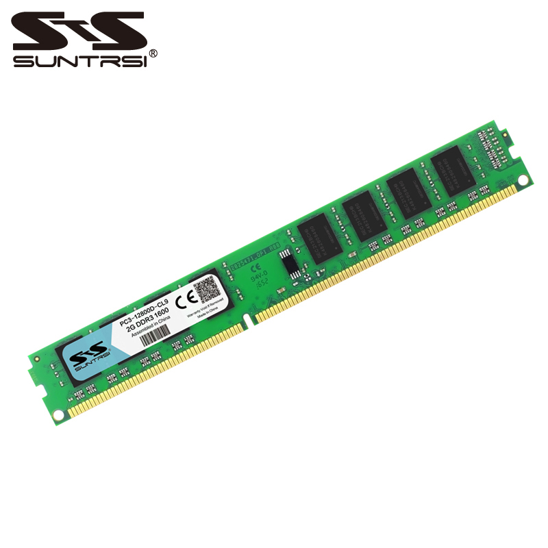 Suntrsi New <font><b>DDR3</b></font> 2GB RAM memory <font><b>1066</b></font> 1333 1600 MHz 240pin 1.5V System High Compatible Desktop memory For Desktop Computer image
