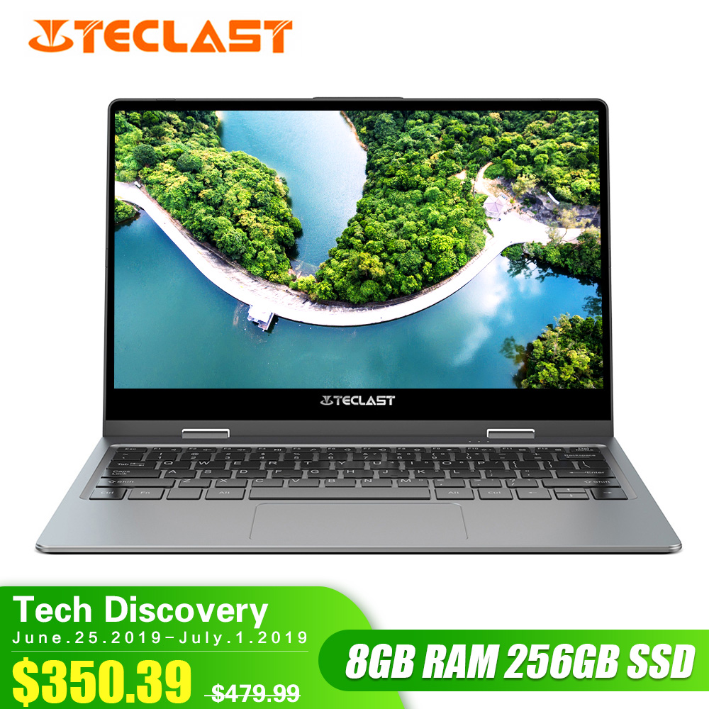 Teclast F5R Laptop 11.6 ''IPS o Windows OS Intel APLLO 10 LAGO N3450 Quad Core 8GB de RAM 256GB SSD 360 ° Rotação Da Tela De Toque HDMI