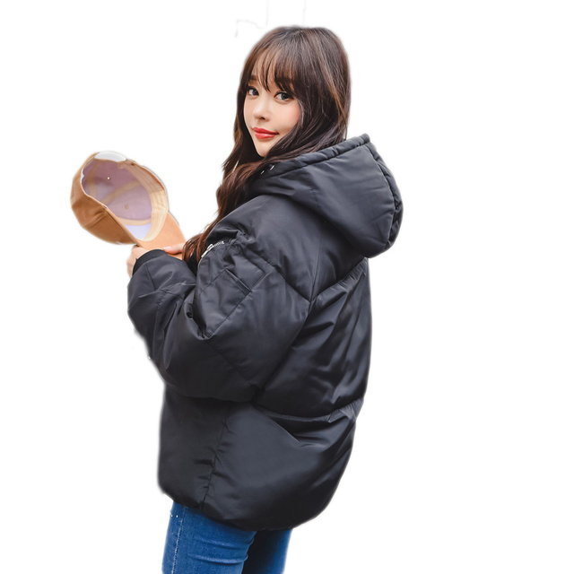 b80572742b0 Plus Size 3XL 4XL Winter Jacket Women Oversized Coats Hooded Thicken Short  Parka Cotton Padded Jacket Women Winter Coat C3768
