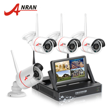 ANRAN New Listing Plug and Play Wireless Security System 4CH 7″ LCD NVR Kit 1TB HDD 720P HD Outdoor IP WIFI Surveillance Camera