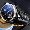 Parnis Preto discar Power Reserve Chronometer 43mm mens Relógio de Luxo