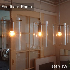 Image 4 - Ganriland led e14 디 밍이 가능한 골드 미니 관형 샹들리에 밤 램프 0.5 w 1 w 2 w 4 w 2200 k  E14 220V  240V 빈티지 led 필 라 멘 트 전구