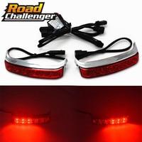 Luggage Turn Light For Harley Touring Street Glide 2014 2015 2016 2017 Red Lens Saddlebag Housing Tail Brake Turn Light Lamp LED