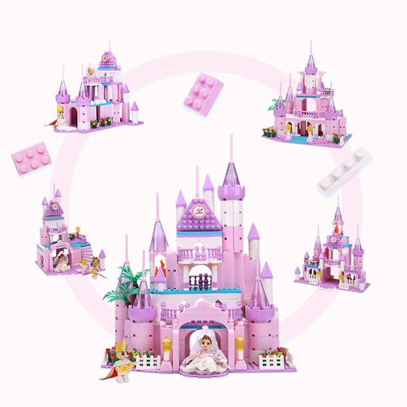 500 pièces un ensemble princesse château fille meilleur cadeau poupées maison jouets maison bricolage mode ville maison noël cadeaux développement jouets