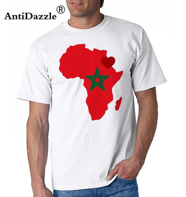 2018 Hot Sale African heart of morocco T shirts Men male Round Neck  Creative design T-shirt Men s Cotton leisure Tee shirt homme d2d0d2d37