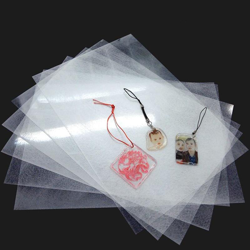 10pcs 0.3mm Shrinks Film Plastic Sheet Shrink Dink Art DIY UV Cure Resin Creative Decorating Unprintable Films A4 DIY Materials