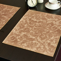 33 46cm Advanced Green Leather Placemat Modern Concise Design Style Table Mat Insulation Pad Mat Decorative