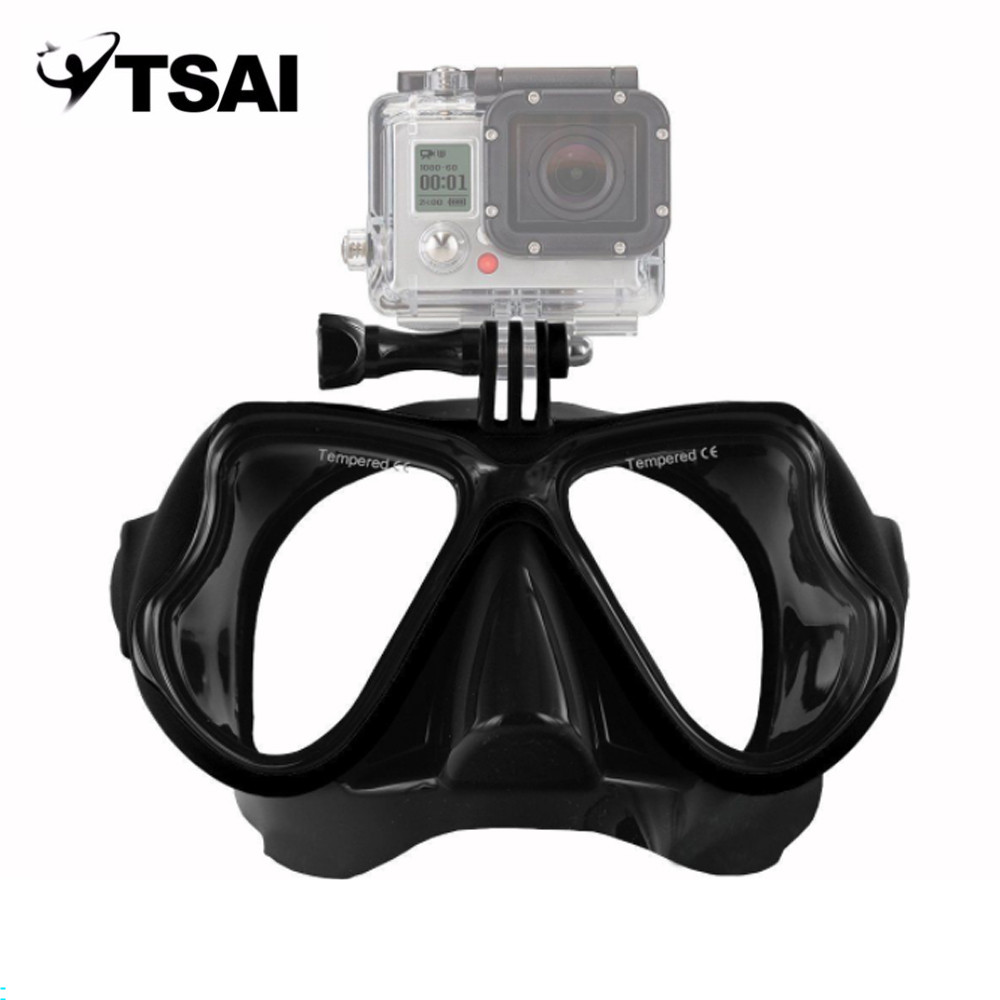 Men Women Camera Diving Mask Shockproof Swimming Goggles Underwater Scuba Snorkel Snorkeling for GoPro Sport Camera Russia Stock