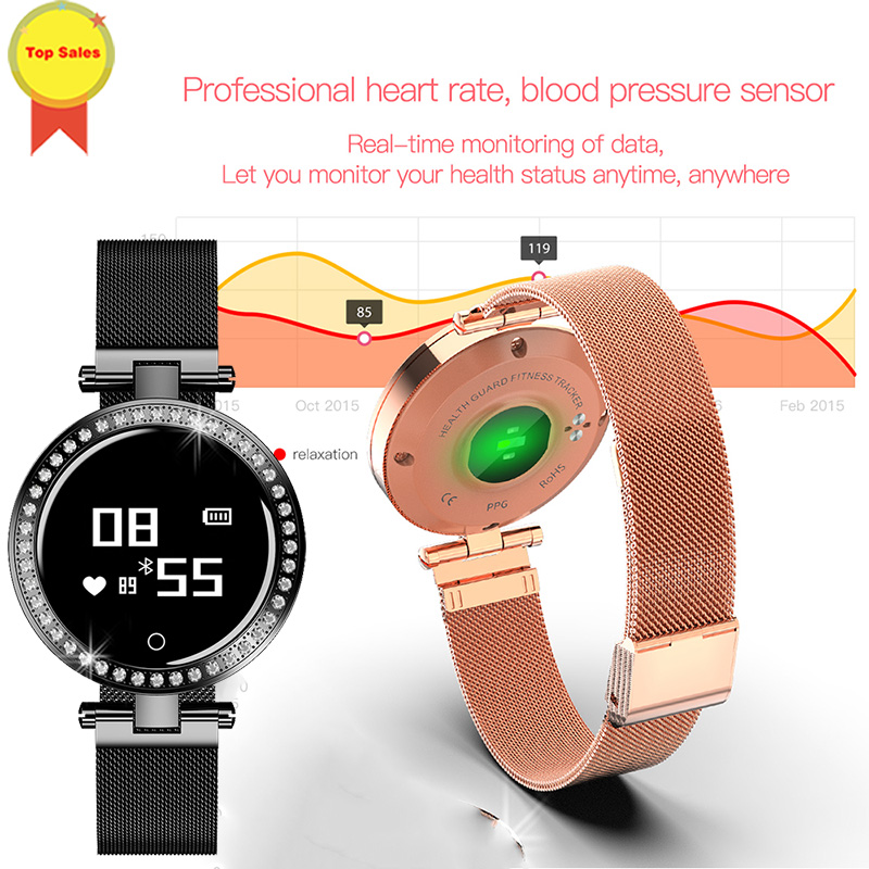 new 2019 women Smart band Sleep blood pressure 24H ongoing heart rate monitor wristband 7days standby smart fashion Wristbandnew 2019 women Smart band Sleep blood pressure 24H ongoing heart rate monitor wristband 7days standby smart fashion Wristband