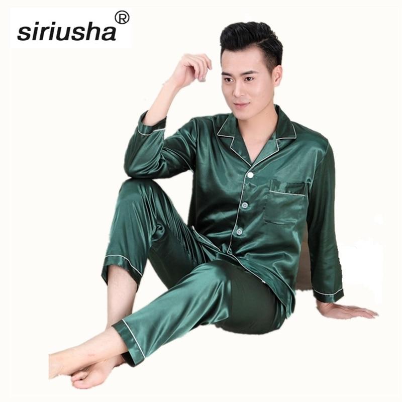 High Quality Pyjamas Sets Pajamas set Long Sleeves Home Clothing Pijamas for the Young Male Suitable for All Seasons S02