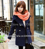 Custom Winter coat han edition NeDaYi qiu dong ladies' leisure suit coat? Loose big turndown new models out wear double button