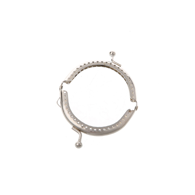 1PC 6.5cm Metal Frame Kiss Clasp Arch For Clutch Coin Purse Handbag Silver Tone 2019 Fashion DIY Sew Bag New Vitange Handle