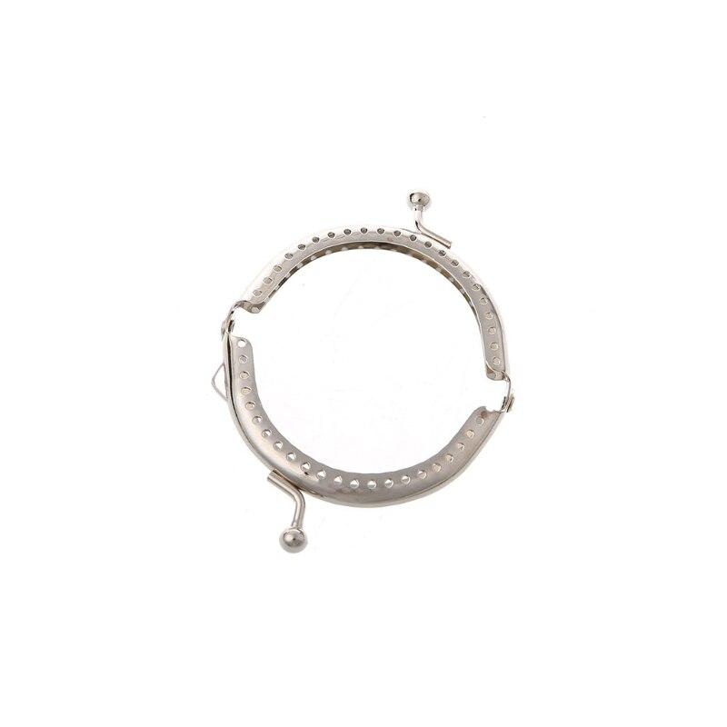 1PC 6.5cm Metal Frame Kiss Clasp Arch For Clutch Coin Purse Handbag Silver Tone 2020 Fashion DIY Sew Bag New Vitange Handle