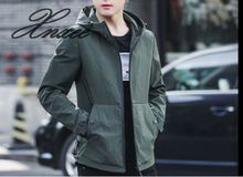Xnxee2019 spring new mens jacket Korean version of the self-cultivation casual hooded tide M-4XL