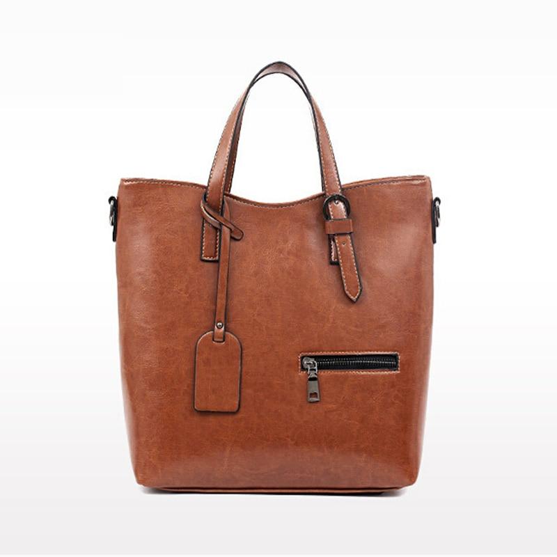 ФОТО European and American Style Vintage Women's Shoulder Bags Casual Tote Bag Bolsa Feminina Women Leather Handbags Messenger bags