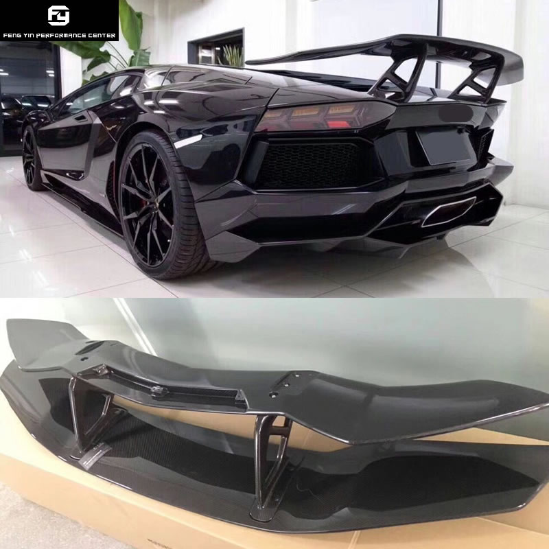 Vendita calda LP700 In Fibra di Carbonio Posteriore Spoiler Ali per Lamborghini Aventador LP700 DMC stile 2015