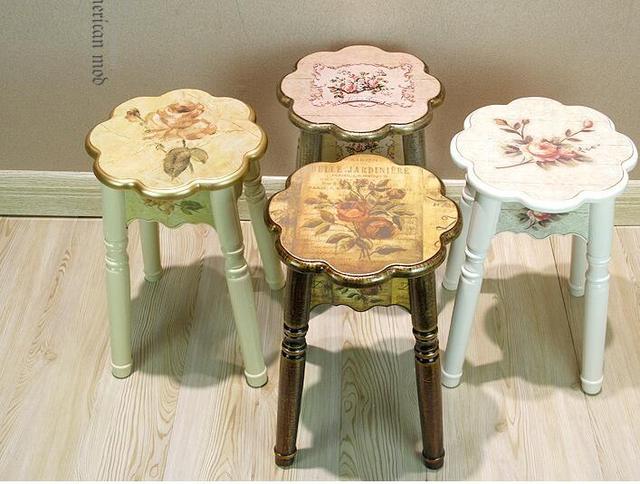 In vero legno famiglia sgabello panca semplice sgabello tavolo di