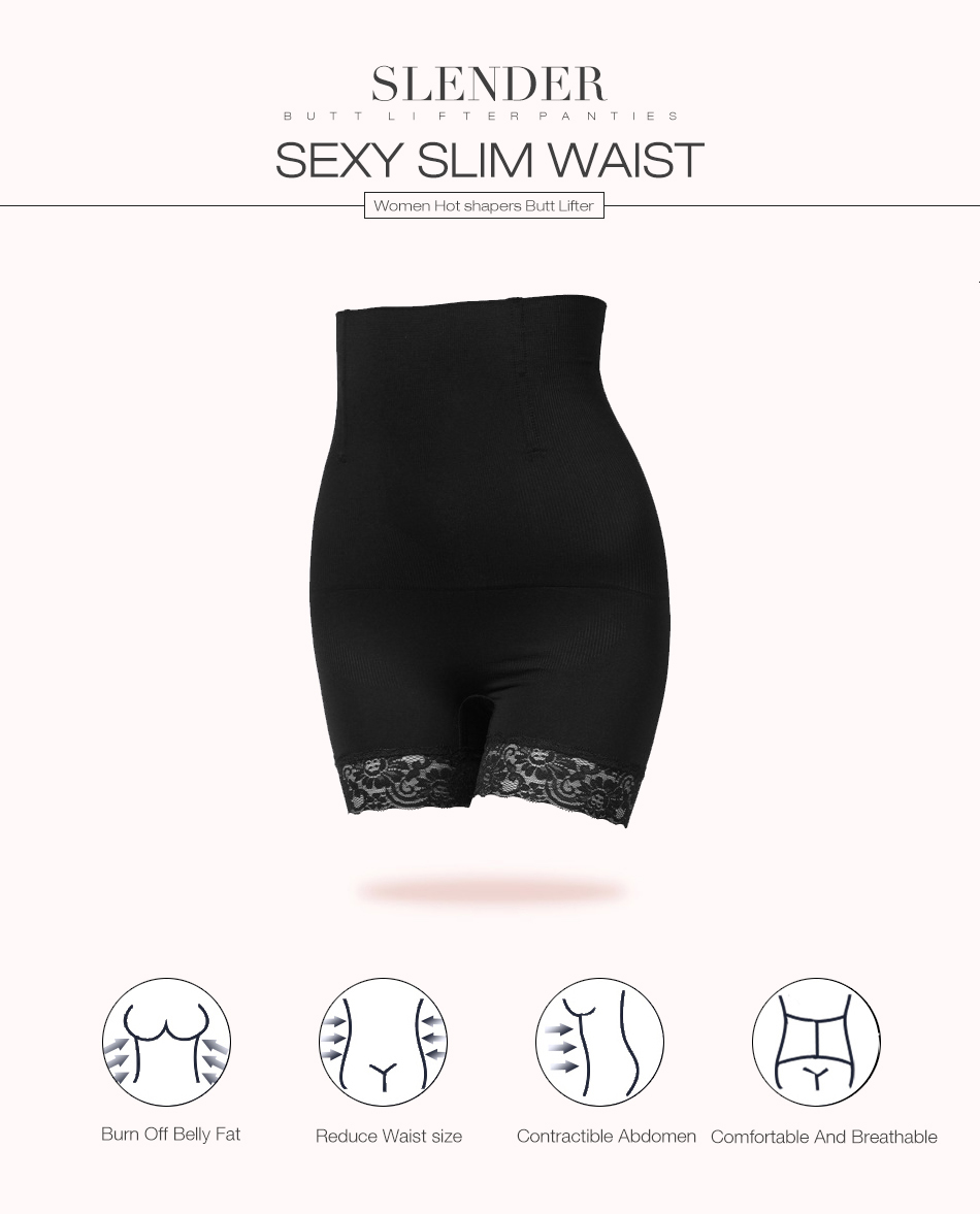 cf1de0b30 Solid Butt Lifter With Tummy Control Underwear Slimming Shorts Women Booty  Lifter Sexy Lingerie Bottom With Lace Design. 1 2 ...