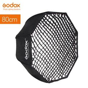 "Image 1 - Godox Portable 80cm 32"" Umbrella Octagon Softbox + Honeycomb Grid Reflector Honeycomb Softbox for TT685 V860II Flash Speedlight"