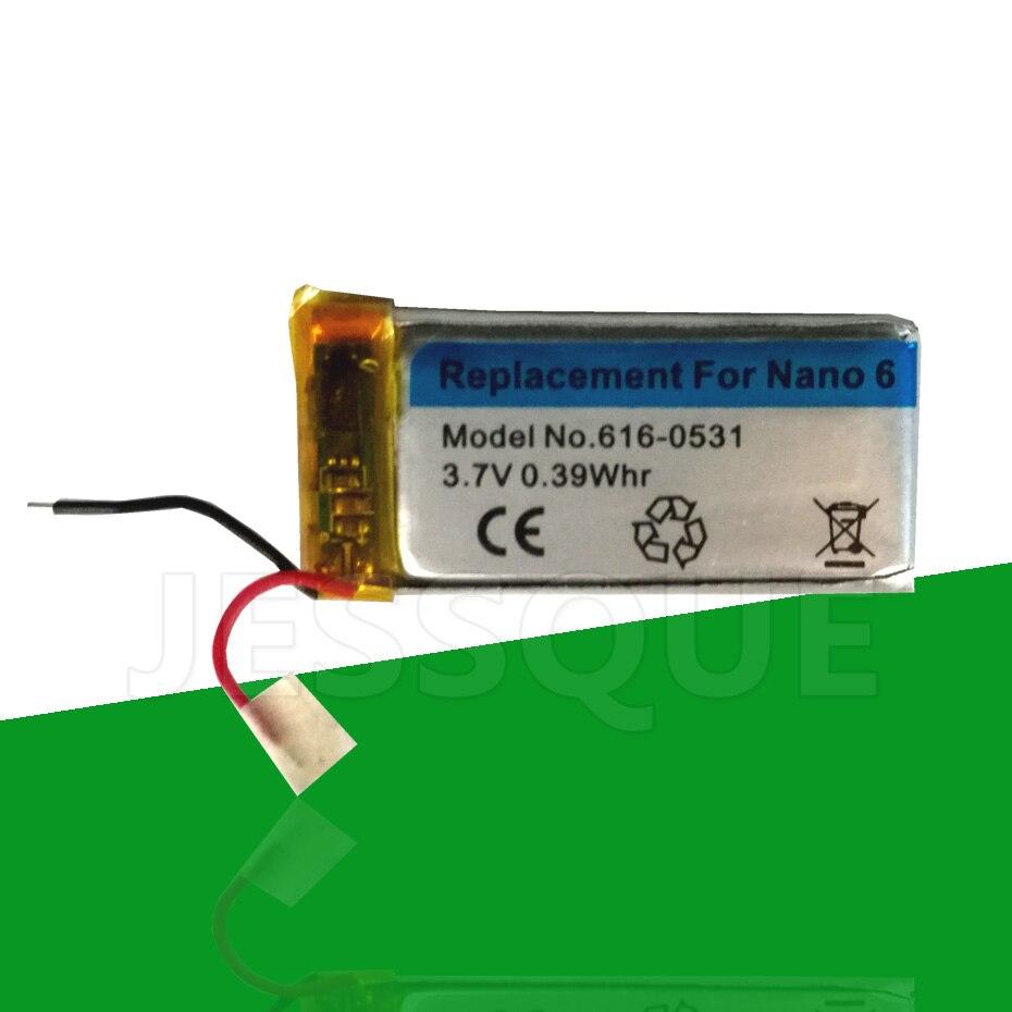 4 шт./лот 616-0531 0.39Whr батарея для Apple iPod Nano 6 6th Gen 8 Гб 16 Гб mp3 mp4 Batterie Nano6 Nano6th Аккумулятор AKKU