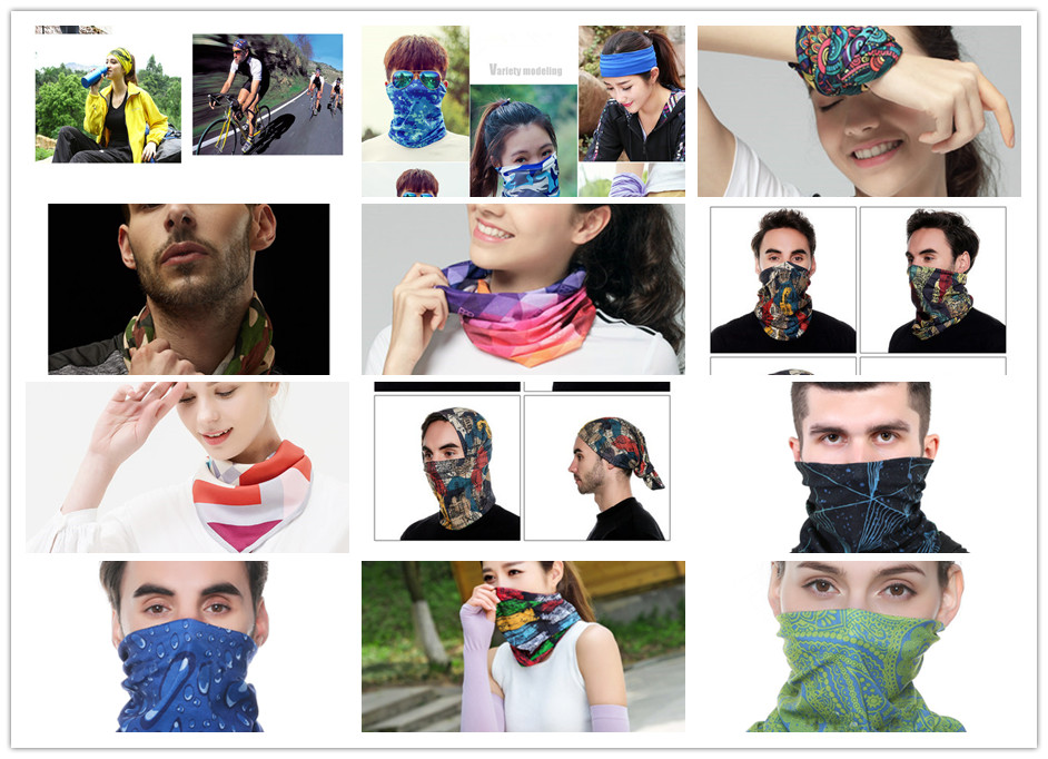 Bandana tube psychédélique exemple sur des utilisateurs | Rasta-Lion™