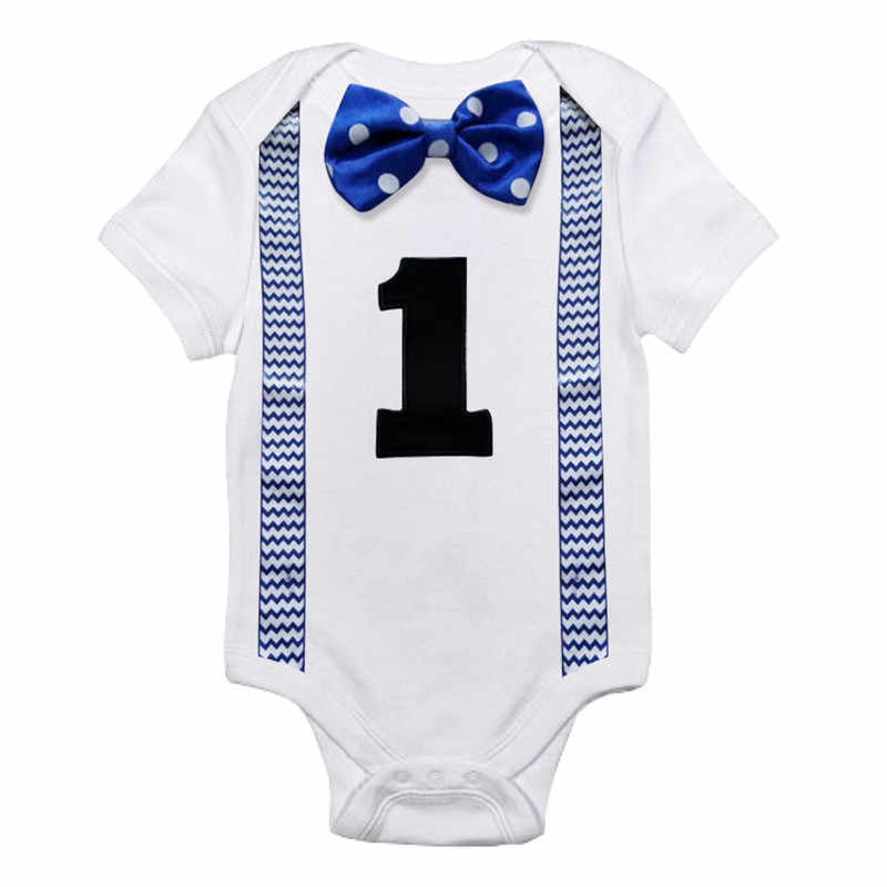 c20cf888b Summer Brand Baby Boys Rompers Little Gentleman 1st Birthday Outfits  Toddler Clothes Baby Jumpsuit White Infant