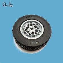 1 Piece TECHNIC Parts 32019 Tyre 62.4*20 + Tires 86652 Wheel 43.2mm D. x 18mm with Flush Axle Stem Blocks Toys Assembles
