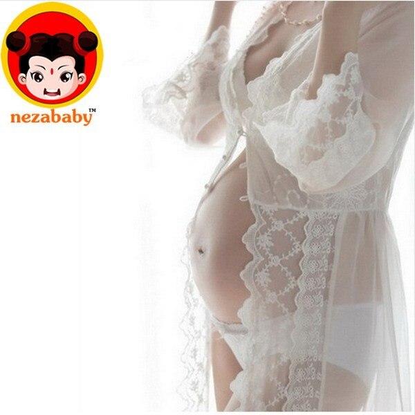 New Maternity Dress Photography Long Lace Maternity Dress Pregnant Photography Props  Pregnant Woman Portrait BB86A