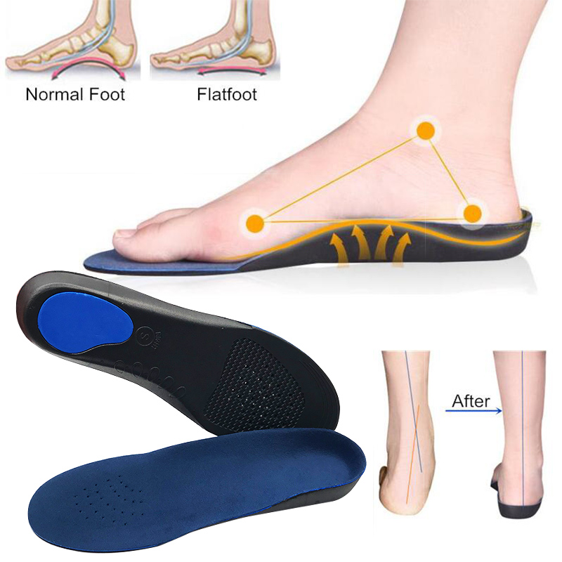 Unisex Sport Shoes Pad Eva Adult Flat Foot Arch Support Orthotics Feet Cushion Pads Care Insoles Novelty & Special Use