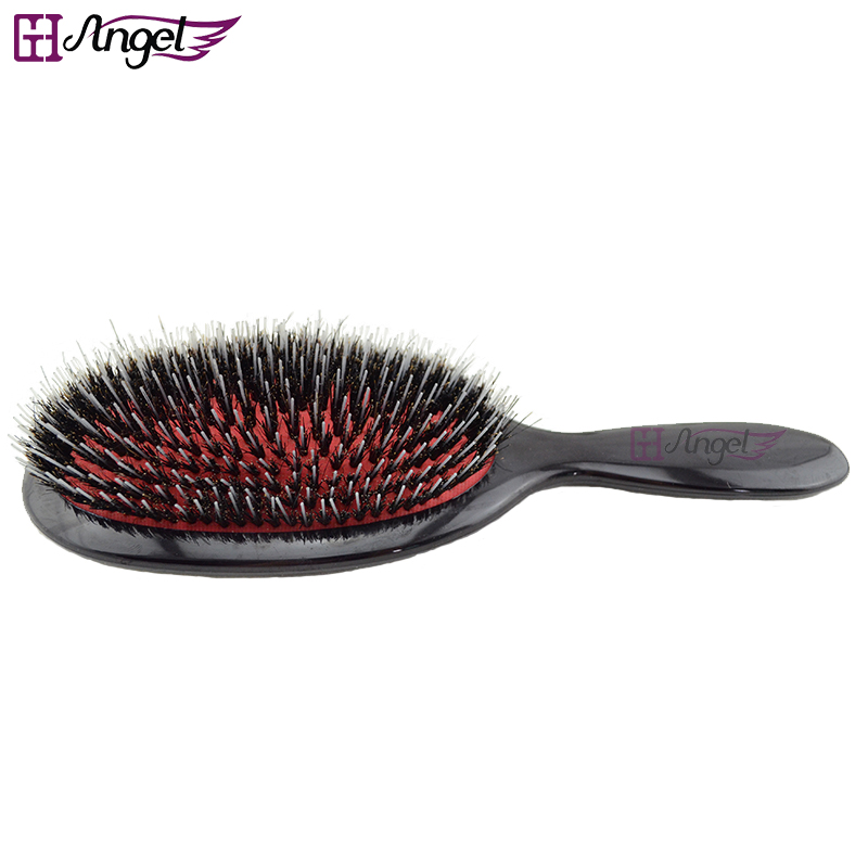 Wholesale 60pcs Professional confortale Real Wild Boar Bristle Brush Hair Extension Brush Excellent Natural Hairbrush