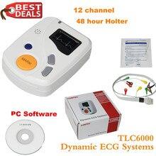 Динамический TLC6000 48 час 12 каналов ECG/EKG холтеровский монитор alalalyzer Recorde CONTEC Производство CE FDA