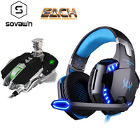 Kotion Each G2000 Gaming Headset Headphone Dynamic Stereo Surround LED Computer Headset Professional Wired Gaming G9