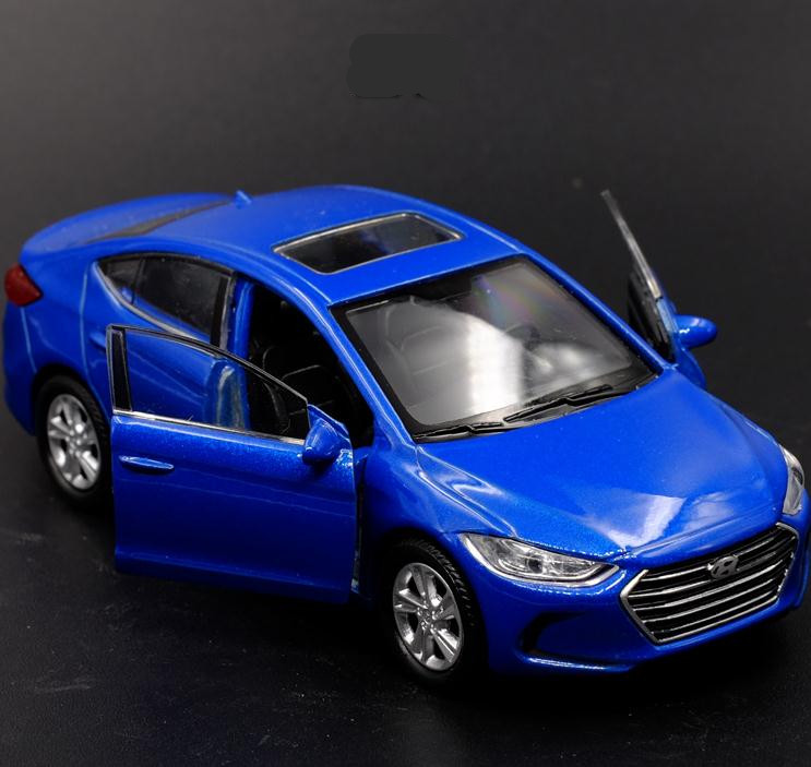 1:36 Scale Alloy Pull Back Car Toy, High Simulation Modern Elantra Model, Metal Diecast, 2 Open Door Toy Vehicle, Wholesale