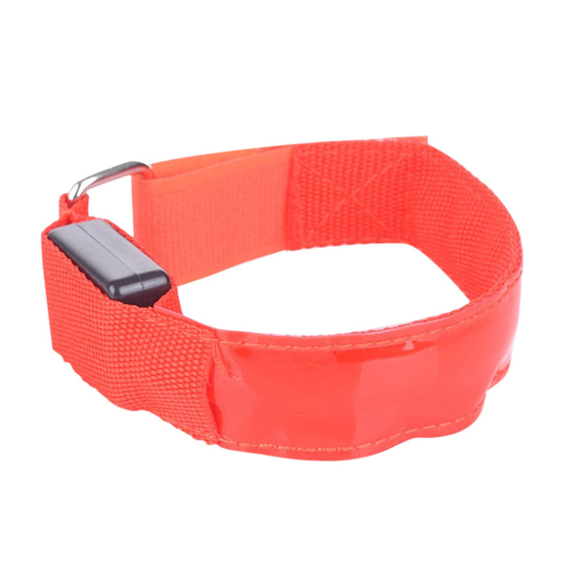 Reflective LED Light Arm Armband Strap Safety Belt For Night Running Cycling Arm Warmers outdoor equipment #3F13 (6)