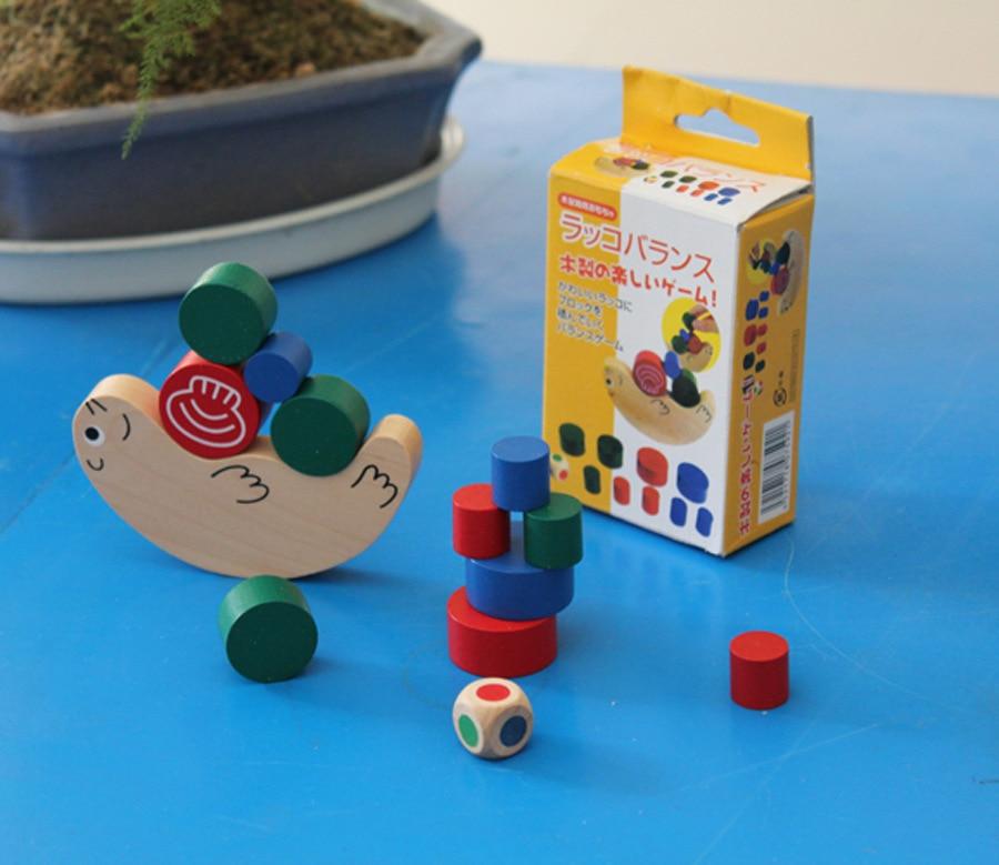 Kids Baby cartoon animal Educational Balancing Blocks / Children Wooden snail Balance Game educational Toys/ Montessori Blocks