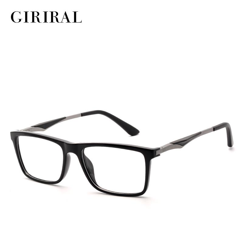 TR90 الرجال إطار نظارات قصر النظر العلامة التجارية البصرية مصمم النظارات خمر إطار واضح # YX0140
