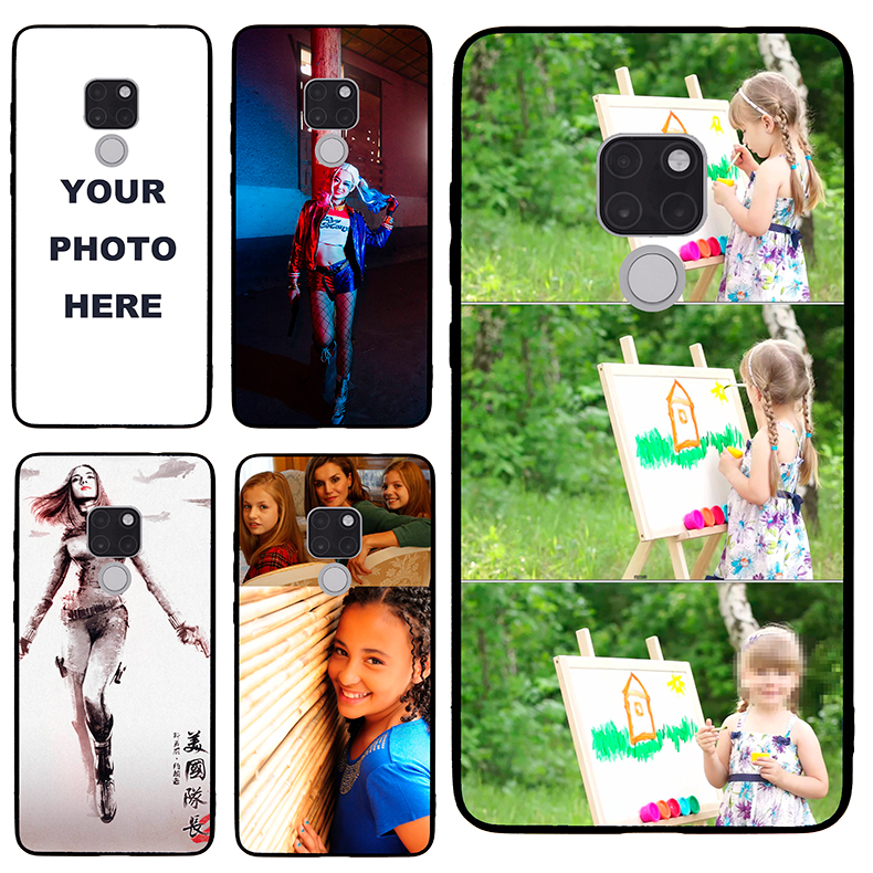 Mate20 case Custom Personalized Make your Photo pattern images Hard Body Soft Side Phone Case Cover