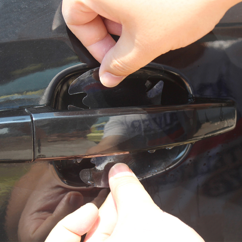 Hot Sale Door Handle Protective Film Car Stickers Fit For Ford Focus 2 3 4 Fiesta Ecosport Kuga Escape Edge For Mondeo Explorer fit for ford mondeo focus explorer edge taurus kuga escort ecosport boot liner rear trunk cargo mat floor tray carpet