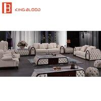 European Style Furniture Faux Leather Sofa