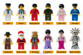 * Minifigs sets 3 * diy enlighten ladrillo bloque número de parte compatible con otros monta los