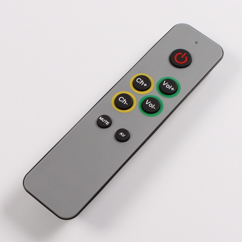 Learning Remote control for TV,STB DVB ,Receiver,DVD, 7 big buttons controller duplicate IR code,  easy use for old people