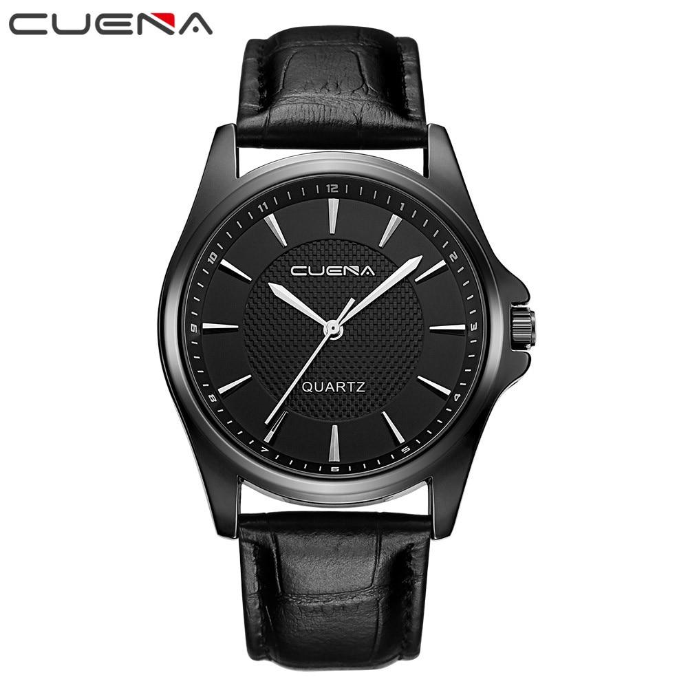 2017 cuena mens watches top brand luxury quartz watch men. Black Bedroom Furniture Sets. Home Design Ideas
