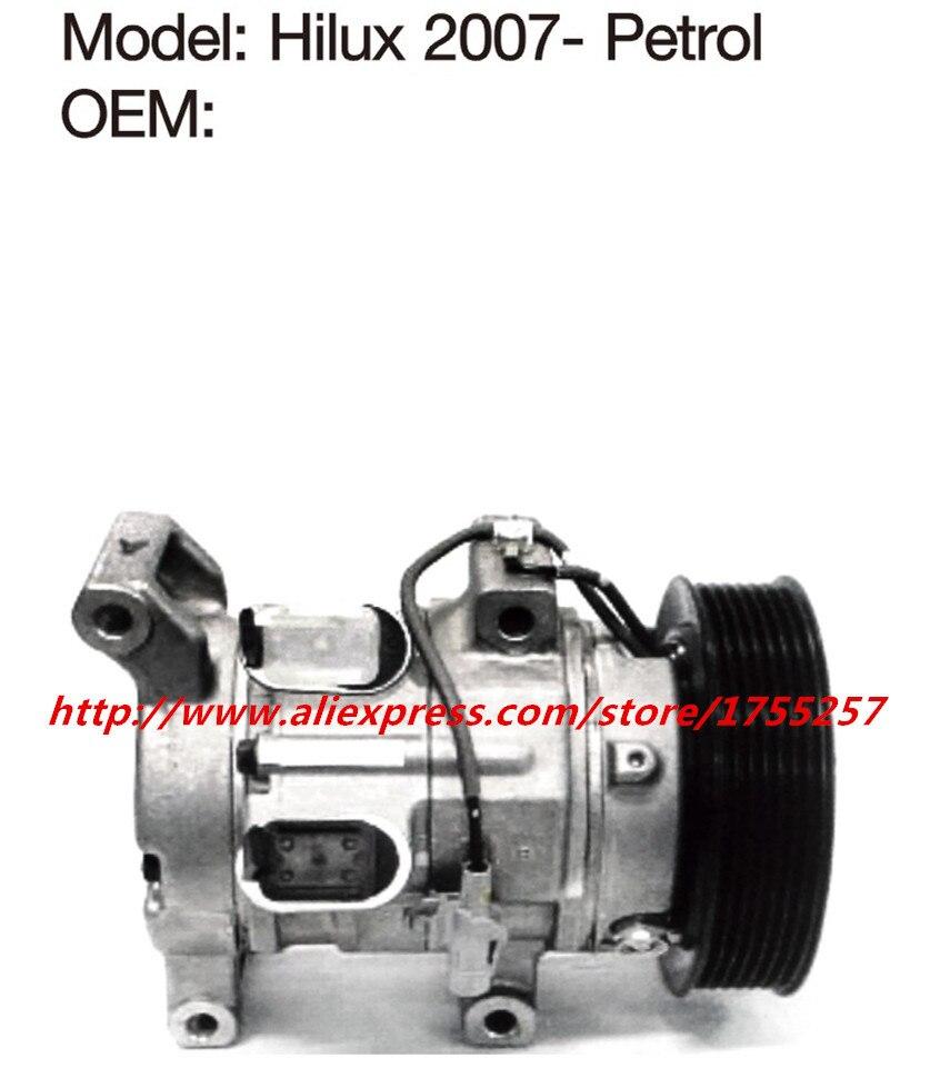 Автомобильный Компрессор кондиционера для hilux, vigo, компрессор эффективное охлаждение бензиновая версия hilux компрессор 10S11C