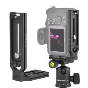 Image 2 - אוניברסלי שחרור מהיר L צלחת סוגר 1/4 בורג עבור sony a7iii השני A9 A6400 עבור ניקון z7 D750 עבור Canon 5D Eos R DSLR מצלמה