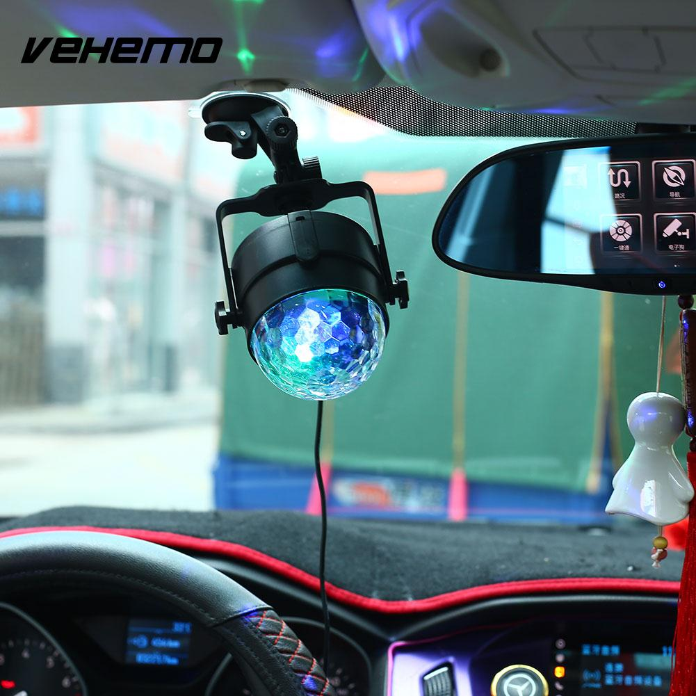 Vehemo T10 12V 5000K Car Music Sound Activated LED Interior Light Auto DJ Flash Lamp sound and music activated spectrum dj led visualizer t shirt black size l 2 x aaa