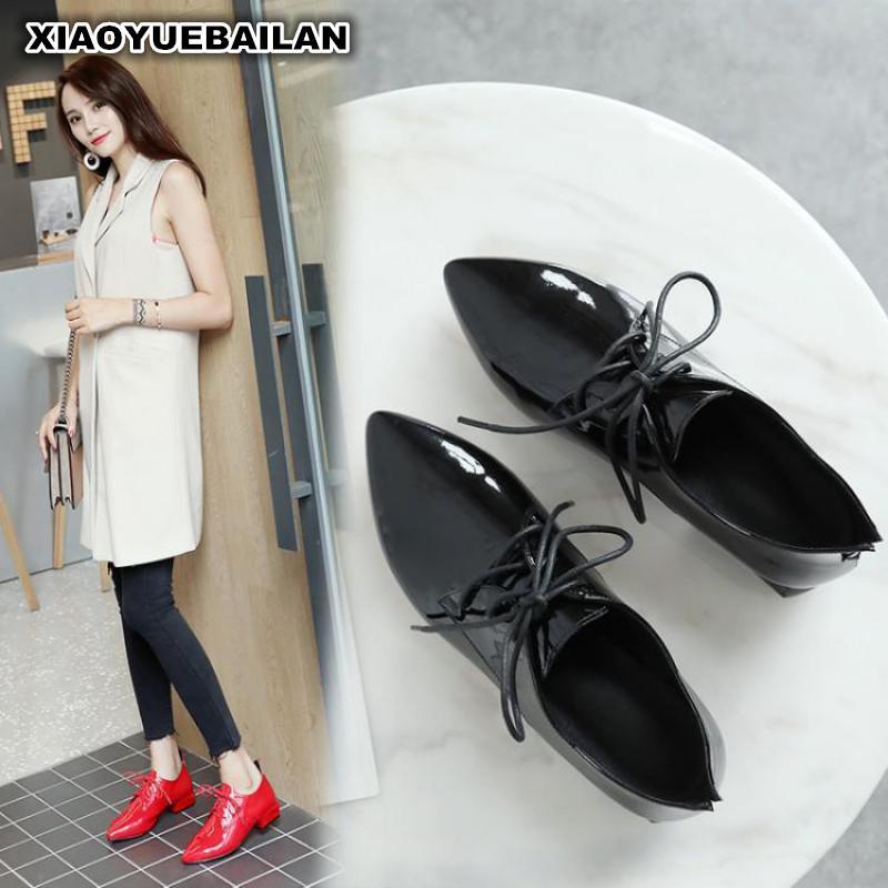 red Avec Exportation Nouvelle Dame Profonde Gros 2018 Femme angleterre Chaussures Black Mode En sCrxthoQBd