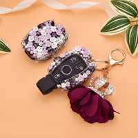 2 or 3 Buttons Ceramic Flower Diamond Car Key Case Cover For Mercedes Benz W214 W211 W203 W210 W124 A180 A200 A260 A AMG Class