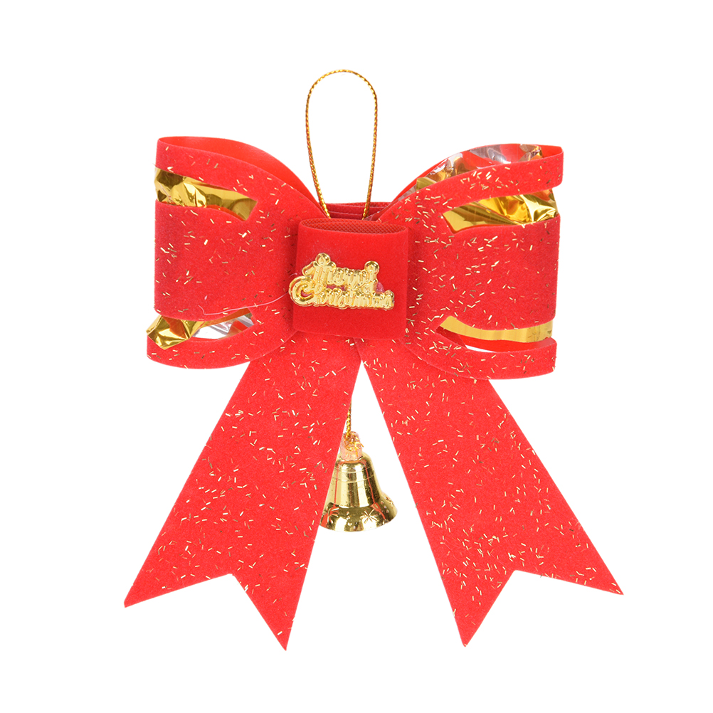 9cm*11cm Tie Type Xmas Decorations SizeCute Bowknot