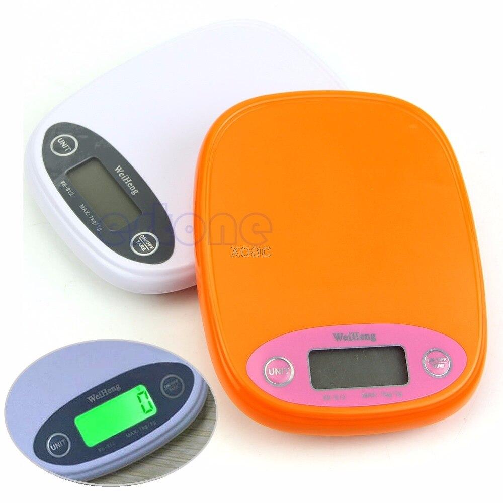 Scale Kitchen Digital 7Kg/1g 5kg Diet Food Postal Weight Balance g lb Backlight M12 dropship