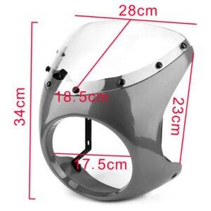 Image 4 - รถจักรยานยนต์ด้านหน้าไฟหน้าFairingกระจกกระจกพลาสติกUniversalสำหรับCafe RACERรถจักรยานยนต์Retroไฟหน้าหน้าจอลม